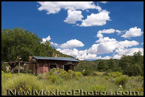 armijo cabin in the cebolla wilderness