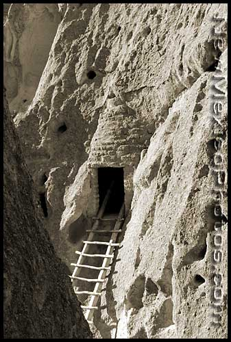 ladder at Bandelier Monument