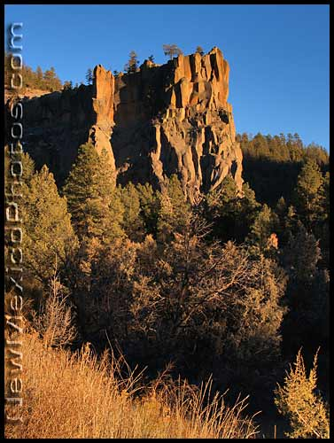 late afternoon at battleship rock in the jemez