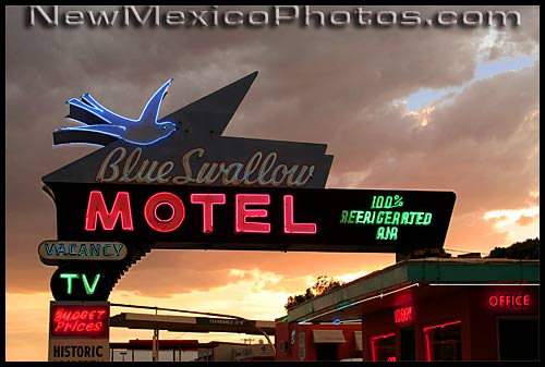 the blue swallow motel, a route 66 icon located in Tucumcari, NM