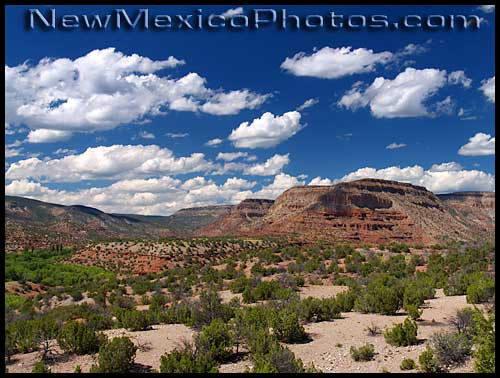confluence of canyons carved by the rio guadalupe and the west fork of the jemez