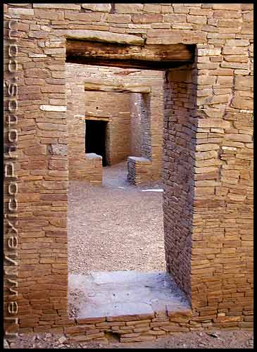 consecutive doorways at chaco canyon