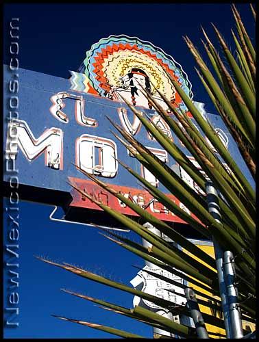 photo of the el vado motel sign