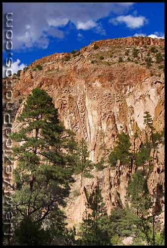 lower frijoles canyon wall