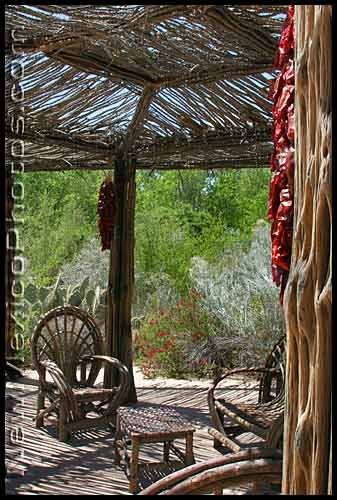 patio at rio grande botanic garden