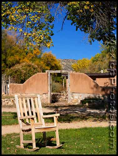 lawn chair at ghost ranch