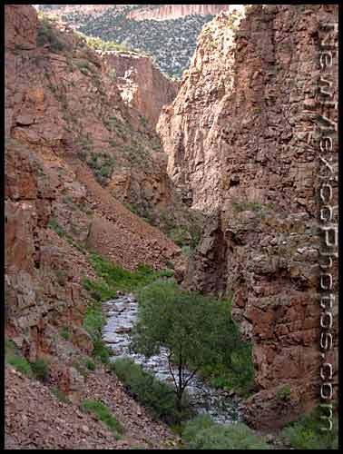 looking north through the Guadalupe Gorge