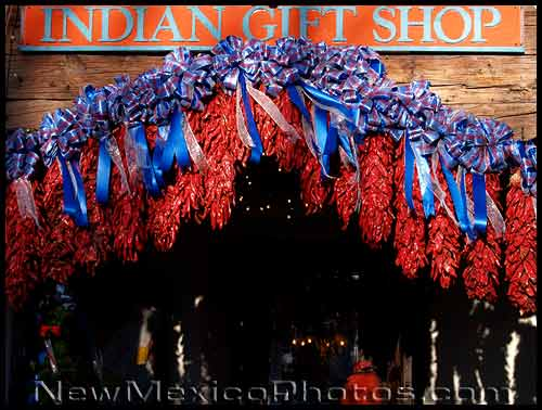 indian gift shop in albuquerque's old town, decked out for the holidays