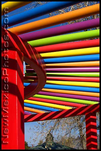colorful bars at the jack &amp; jill park in albuquerque