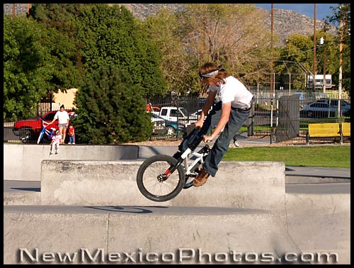 bicycle trickster at Los Altos Skate Park