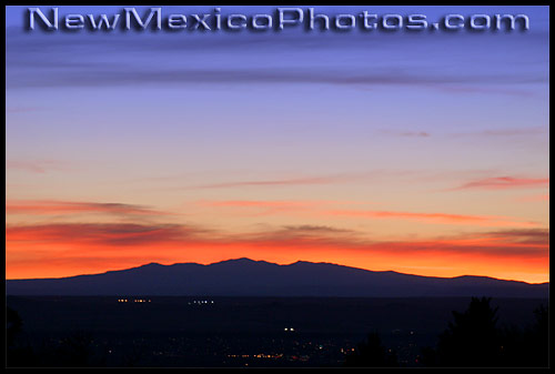 lights begin to twinkle in albuquerque shortly after sunset