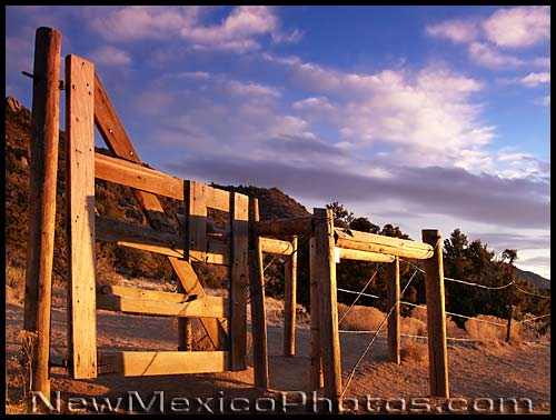 gate between elena gallegos picnic area and sandia mountain wilderness