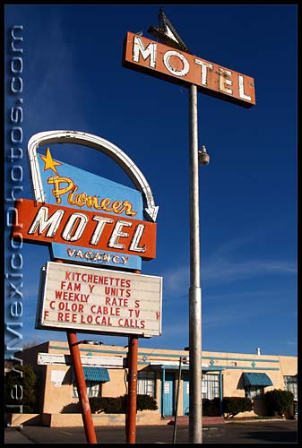 pioneer motel along old route 66 in albuquerque