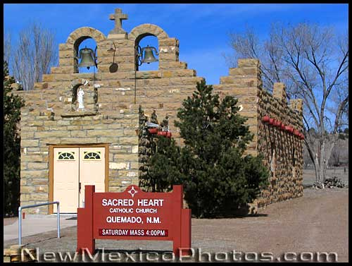 stone church in quemado, new mexico