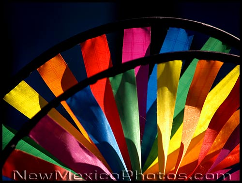 arcs of rainbow colors
