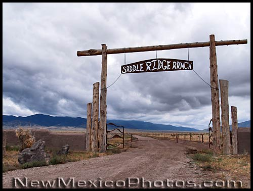 entrance to a ranch -- or a subdivision -- outside Carrizozo