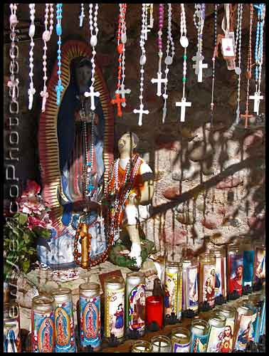 a shrine across from the Santuario de Chimayo