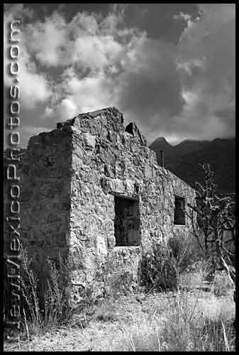 stone hut in the Sandias