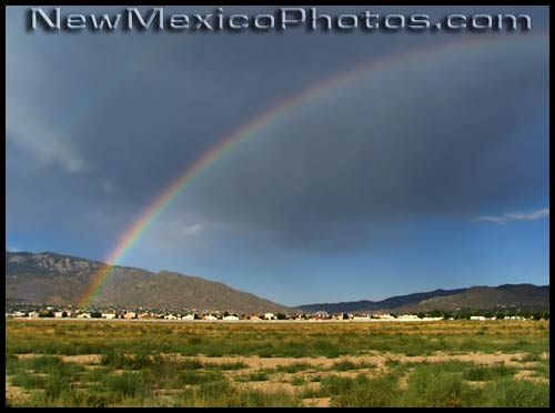 summer rainbow over southeast Albuquerque