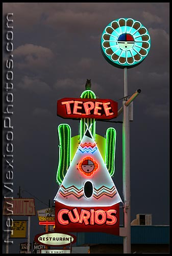 refurbished route 66 neon in Tucumcari