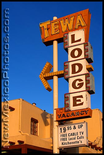 tewa lodge, a motel along old route 66 in Albuquerque
