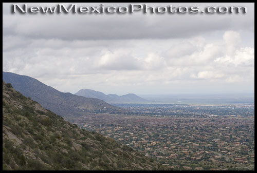 Albuquerque view, looking south from the northern end of the Sandias