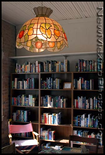 A room in the Corona town library, which is in a beautiful old house there