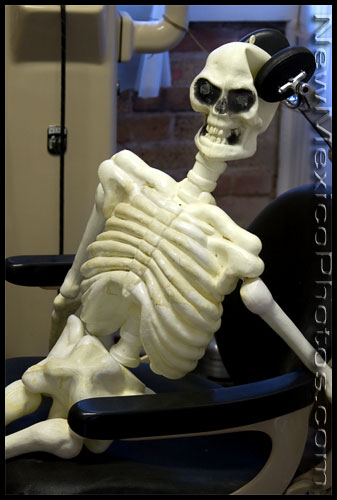 An exceptionally patient patient -- now a skeleton -- is still waiting for the doctor in the Corona Museum