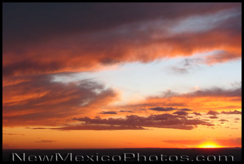 A classic New Mexican sunset, as seen from Elena Gallegos Picnic Area in Albuquerque