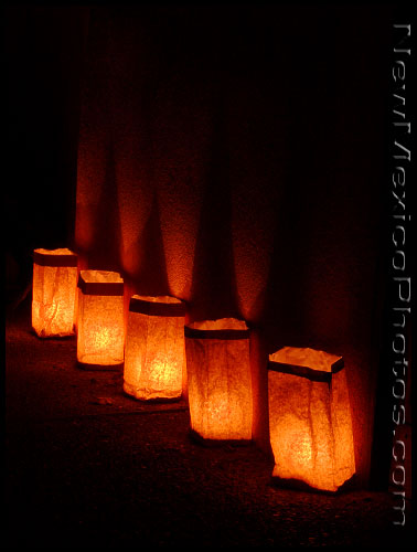 Luminarias -- also called farolitos -- are a Christmas Eve tradition throughout most of New Mexico