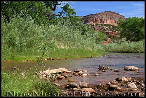 looking north along the jemez river
