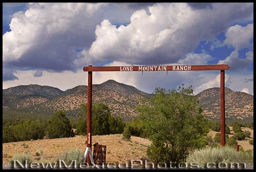 sign for the lone mountain ranch