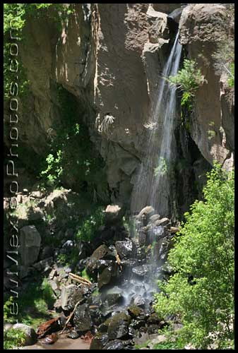 lower waterfall at bandelier national monument