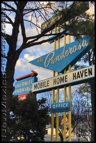 Ponderosa Mobile Home Haven sign