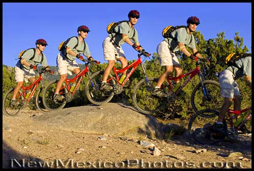 mountain biking in the sandia foothills