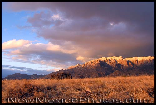 A classic late winter afternoon in the Sandia foothills