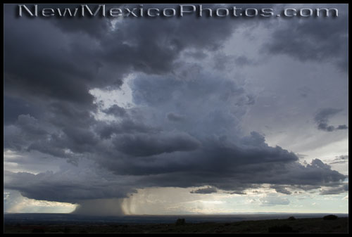 a recent thunderstorm in albuquerque