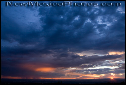 A spectacular New Mexican sunset, spawned by the summer monsoon rains