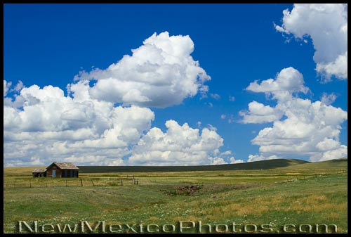 An old house on the sprawling plains of northeastern New Mexico