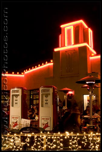 Kellys Pub, an old Route 66 icon in Albuquerque, is decked out for Christmas and the Nob Hill Shop and Stroll