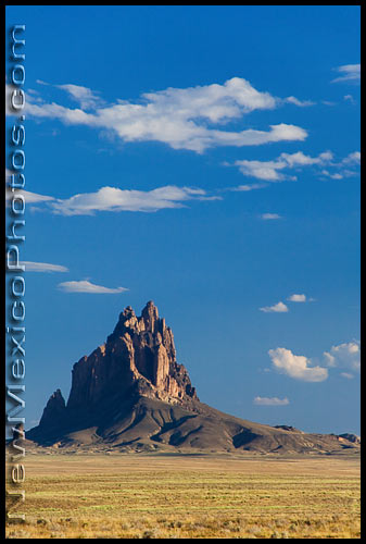 Shiprock, in the Four Corners area (near the town of the same name), on a late summer afternoon