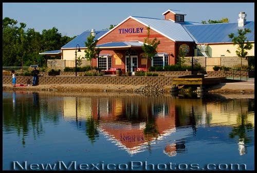 Tingley Beach Train Station in Albuquerque, on the Rio Line between the Botanic Garden and the Zoo