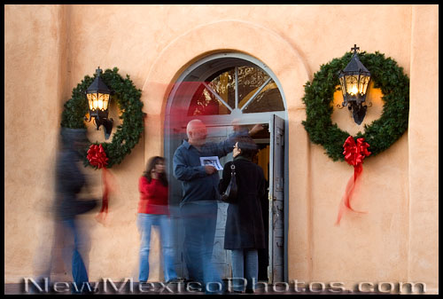 Christmas Eve at San Felipe de Neri Church in Old Town Albuquerque