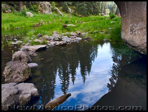 a small pool along the east fork of the Jemez River