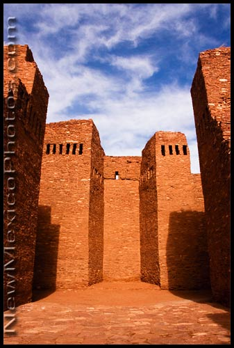 The old sanctuary at Quarai, part of the Salinas Pueblo Missions National Monument