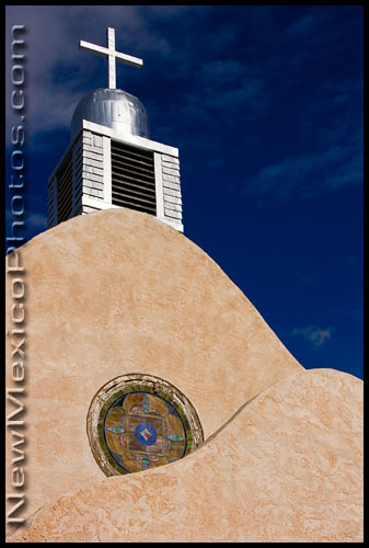 the old church in San Ysidro, New Mexico