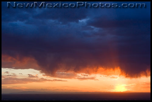 virga clouds at sunset are a sign that the monsoon season is approaching