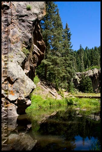 reflections in the east fork of the Jemez