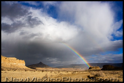 a rainbow in the rio puerco valley