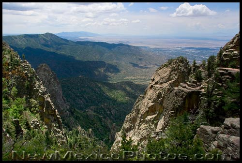 looking south from Sandia Crest